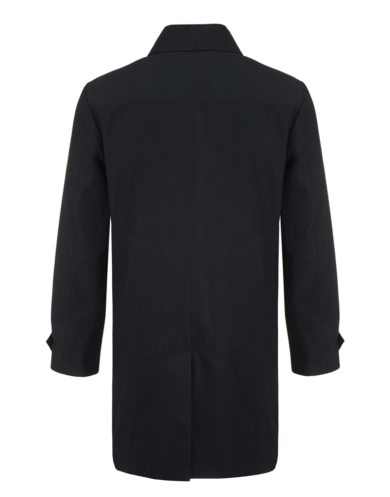 Jenny Schwarz: Remi raincoat- navy cotton gabardine raincoat | Clothing > Coats,Clothing -  Hiphunters Shop