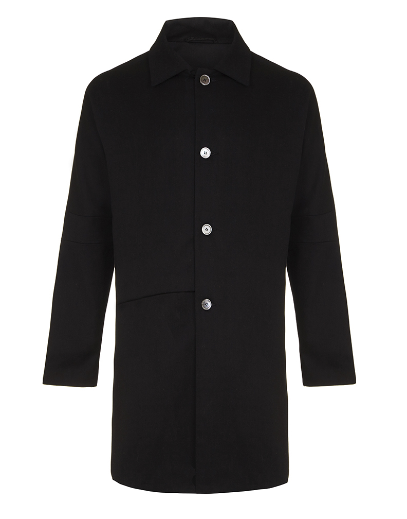 Jenny Schwarz: Frank coat- black cotton drill drop shoulder coat | Clothing > Coats,Clothing -  Hiphunters Shop