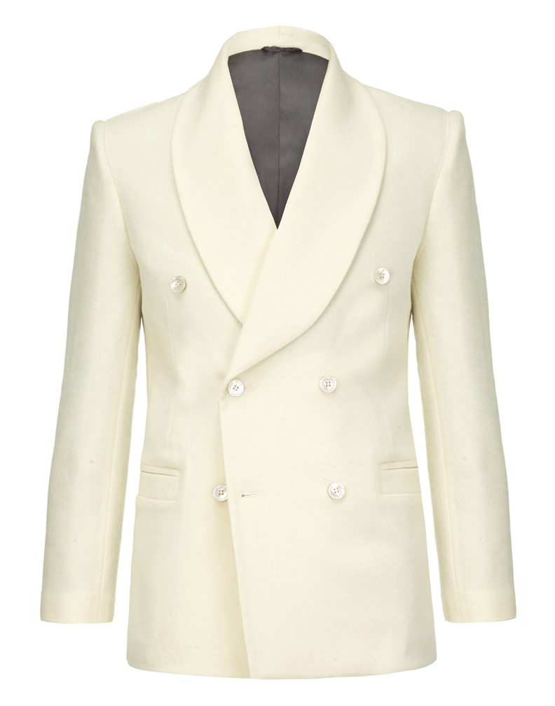 Ferdinand jacket- off white hainsworth merino wool jacket